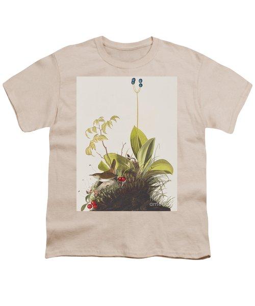 Wood Wren Youth T-Shirt by John James Audubon