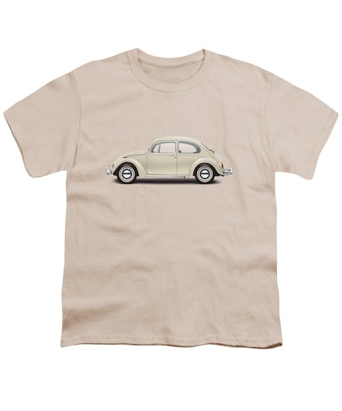 1965 Volkswagen 1200 Deluxe Sedan - Panama Beige Youth T-Shirt by Ed Jackson