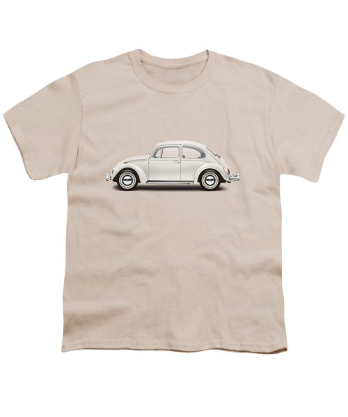 1966 Volkswagen 1300 Sedan - Pearl White Youth T-Shirt by Ed Jackson