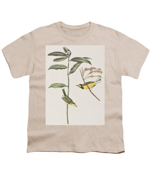 Hooded Warbler  Youth T-Shirt by John James Audubon