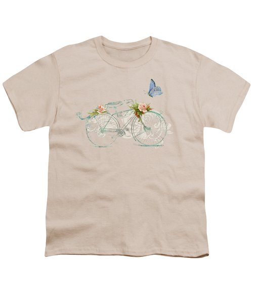 Summer At Cape May - Bicycle Youth T-Shirt by Audrey Jeanne Roberts