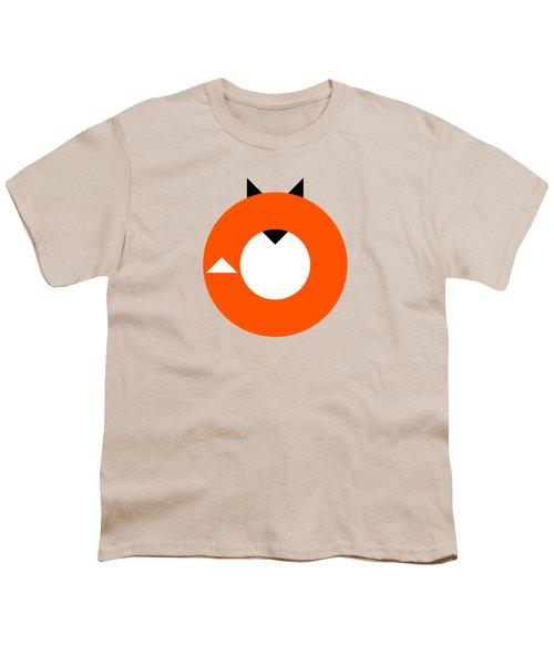 A Most Minimalist Fox Youth T-Shirt by Nicholas Ely