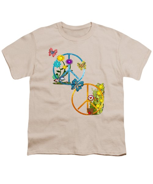 A Very Hippy Day Whimsical Fantasy Youth T-Shirt by Sharon and Renee Lozen
