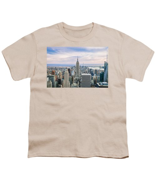 Amazing Manhattan Youth T-Shirt by Az Jackson