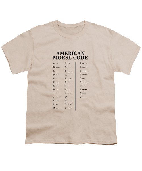 American Morse Code Youth T-Shirt by Mark Rogan