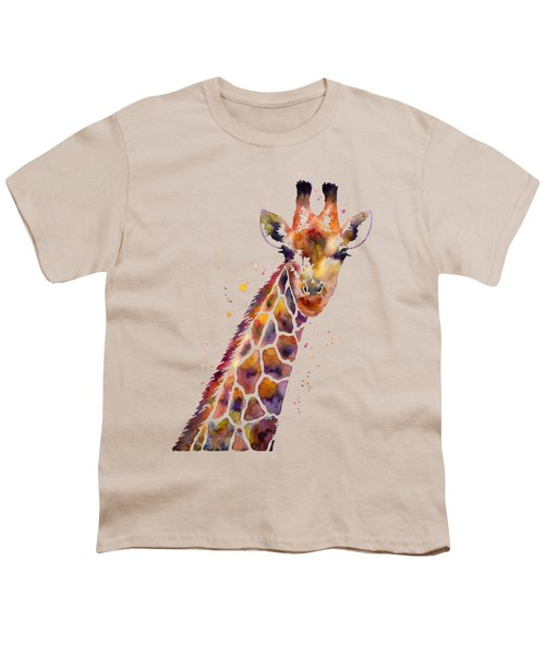 Giraffe Youth T-Shirt by Hailey E Herrera
