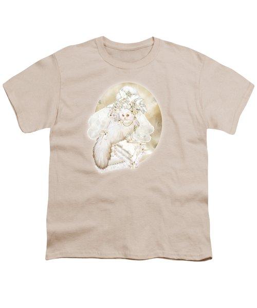 Cat In Fancy Bridal Hat Youth T-Shirt by Carol Cavalaris