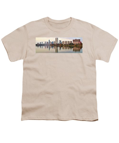 Austin Wide Shot Youth T-Shirt by Frozen in Time Fine Art Photography
