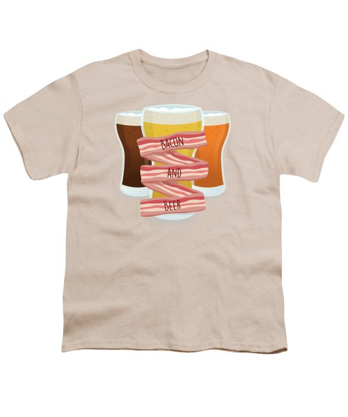 Bacon And Beer Youth T-Shirt by Renato Kolberg