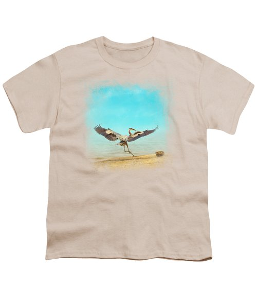 Beach Dancing Youth T-Shirt by Jai Johnson