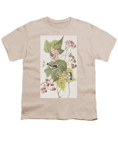 Black And Yellow Warblers Youth T-Shirt by John James Audubon
