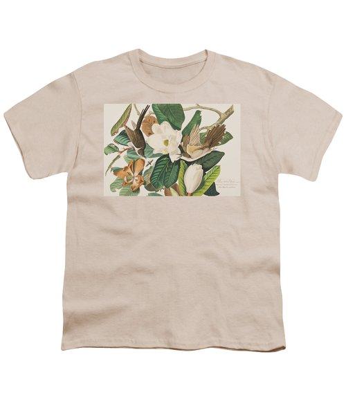 Black Billed Cuckoo Youth T-Shirt by John James Audubon