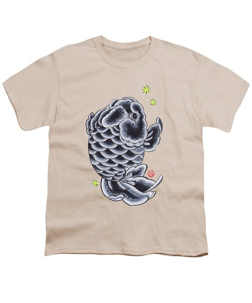 Black Ranchu Youth T-Shirt by Shih Chang Yang