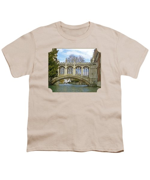 Bridge Of Sighs Cambridge Youth T-Shirt by Gill Billington
