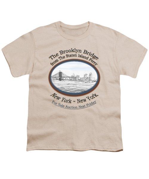 Brooklyn Bridge Youth T-Shirt by James Lewis Hamilton