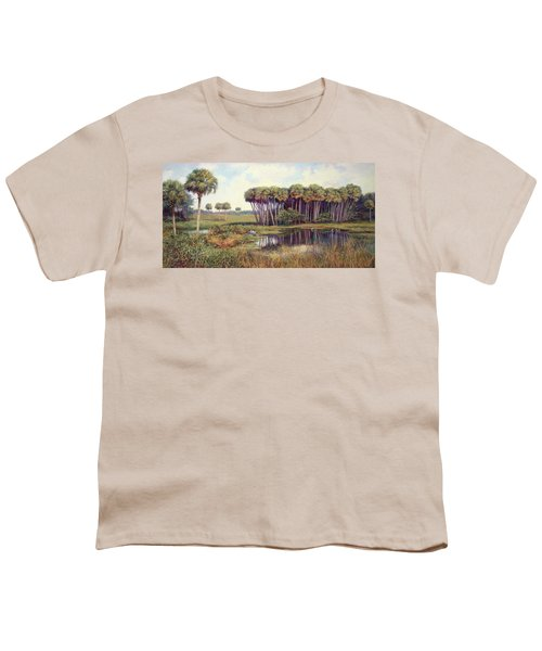 Cabbage Palm Hammock Youth T-Shirt by Laurie Hein