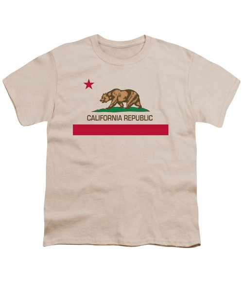 California Republic State Flag Authentic Version Youth T-Shirt by Bruce Stanfield