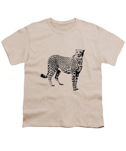 Cheetah Cutout Youth T-Shirt by Greg Noblin