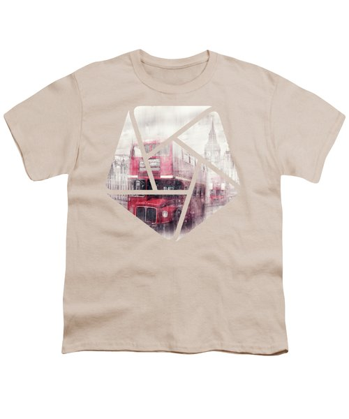 City-art London Westminster Collage II Youth T-Shirt by Melanie Viola
