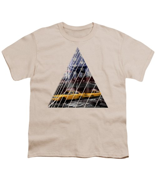 City-art Nyc Composing Youth T-Shirt by Melanie Viola