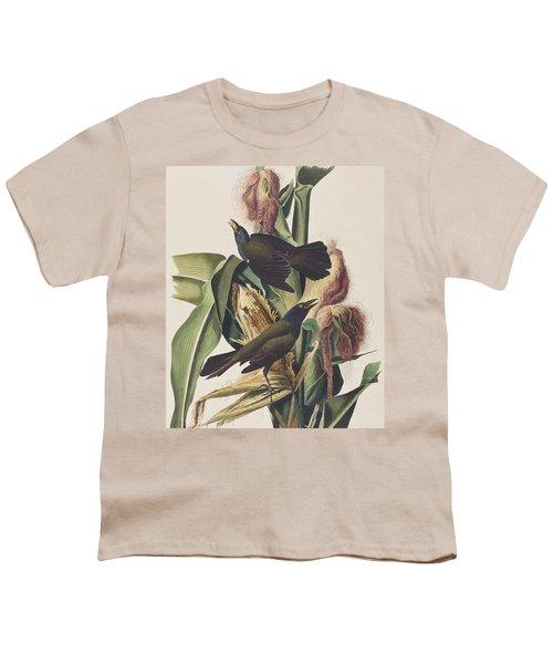 Common Crow Youth T-Shirt by John James Audubon