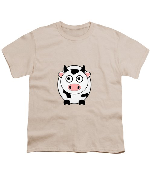 Cow - Animals - Art For Kids Youth T-Shirt by Anastasiya Malakhova