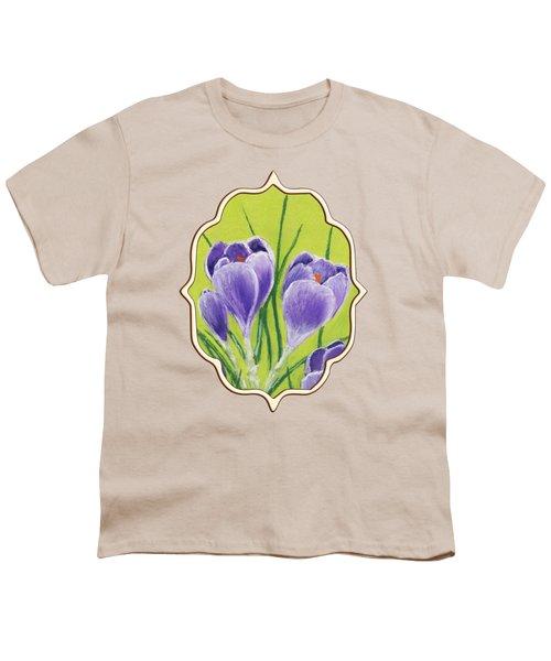 Crocus Youth T-Shirt by Anastasiya Malakhova