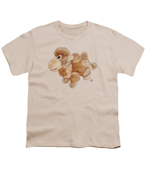 Cuddly Camel Youth T-Shirt by Angeles M Pomata
