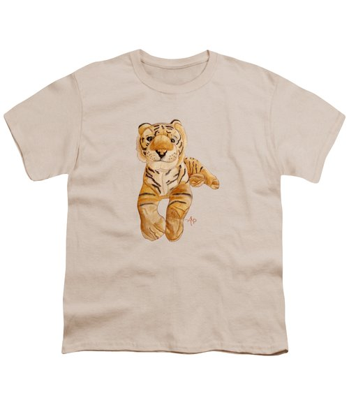 Cuddly Tiger Youth T-Shirt by Angeles M Pomata