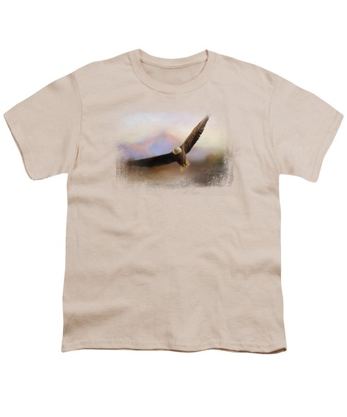 Eagle At The Mountain Youth T-Shirt by Jai Johnson