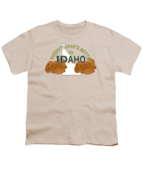 Everything's Better In Idaho Youth T-Shirt by Pharris Art