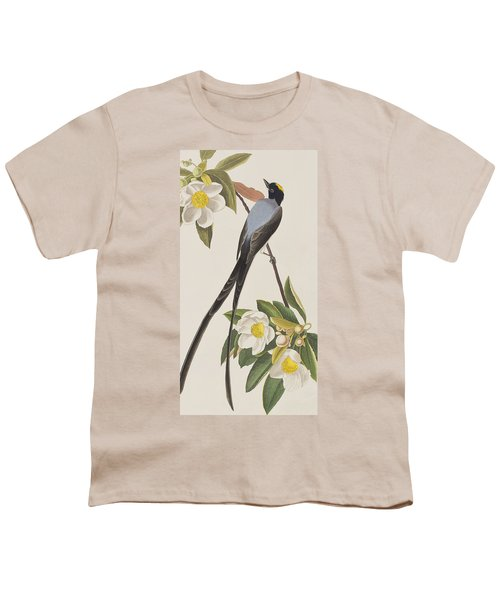 Fork-tailed Flycatcher  Youth T-Shirt by John James Audubon