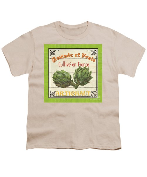 French Vegetable Sign 2 Youth T-Shirt by Debbie DeWitt
