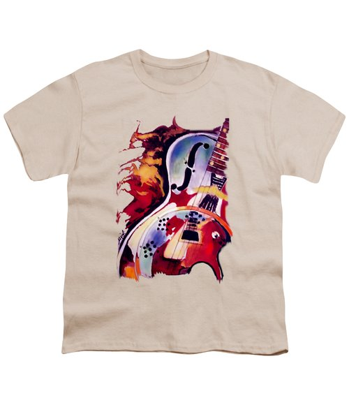 Guitar Flow Youth T-Shirt by Melanie D