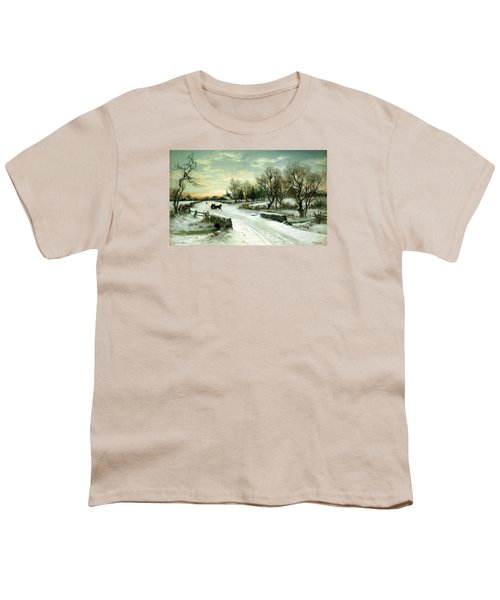 Youth T-Shirt featuring the painting Happy Holidays by Travel Pics