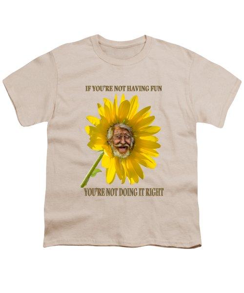Having Fun Youth T-Shirt by Rick Mosher