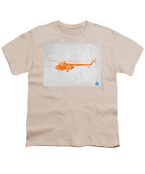 Helicopter Youth T-Shirt by Naxart Studio