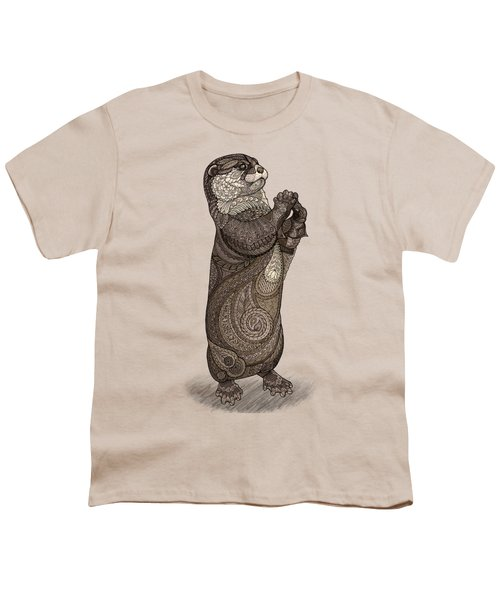 Infatuated Otter Youth T-Shirt by ZH Field