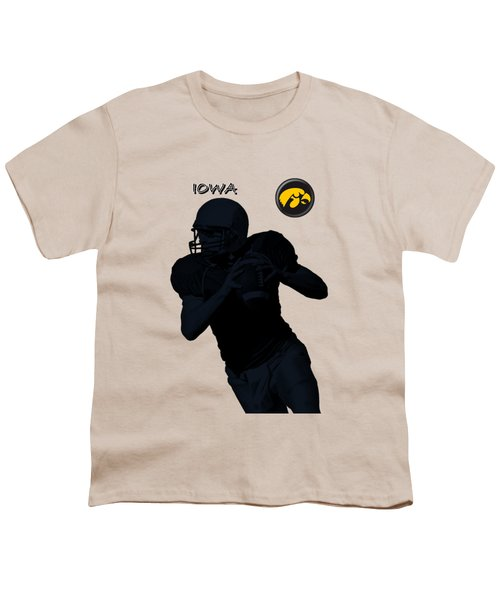 Iowa Football  Youth T-Shirt by David Dehner
