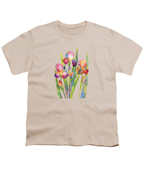 Iris Elegance Youth T-Shirt by Hailey E Herrera