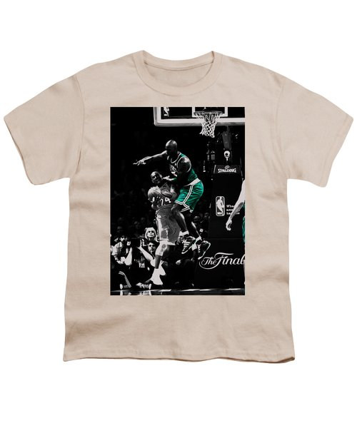 Kevin Garnett Not In Here Youth T-Shirt by Brian Reaves