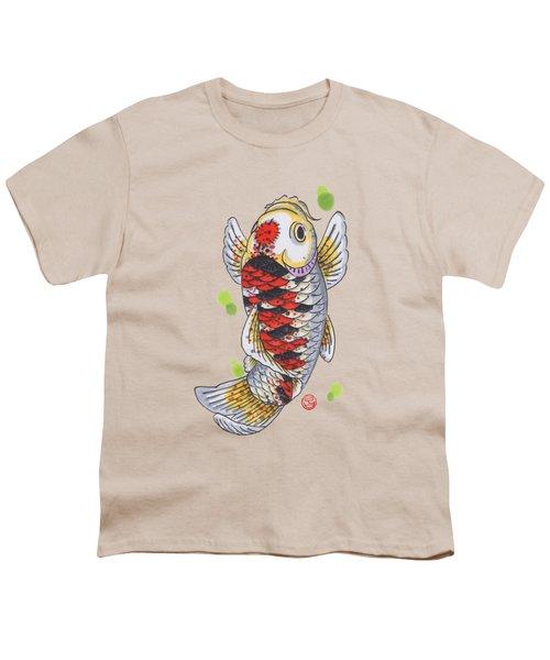 Koi Fish Youth T-Shirt by Shih Chang Yang