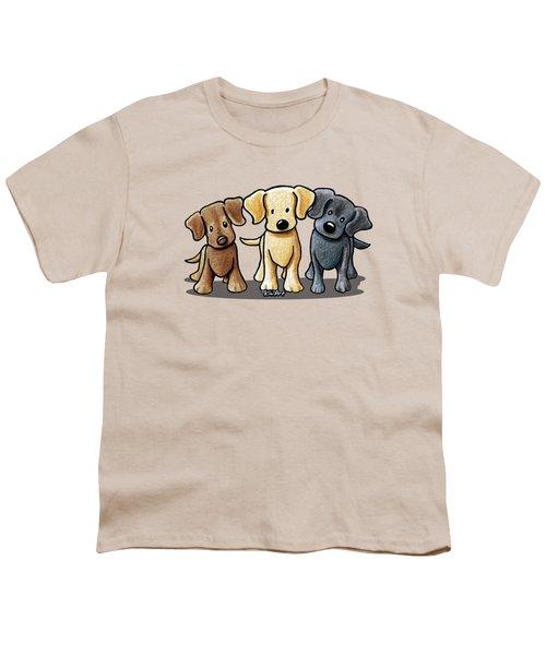 Labrador Beach Trio Youth T-Shirt by Kim Niles