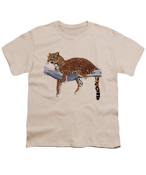 Leopard Youth T-Shirt by Alexandra Panaiotidi