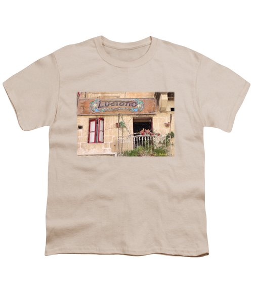 Luciano's Pizza Youth T-Shirt by Jon Delorme