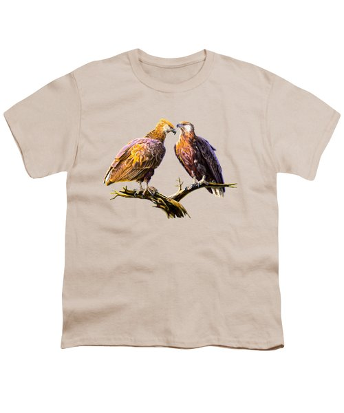 Madagascar Fish Eagle  Youth T-Shirt by Anthony Mwangi