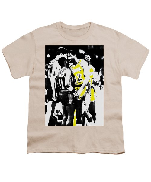Magic Johnson And Isiah Thomas Youth T-Shirt by Brian Reaves