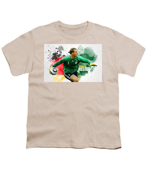 Manuel Neuer Youth T-Shirt by Semih Yurdabak
