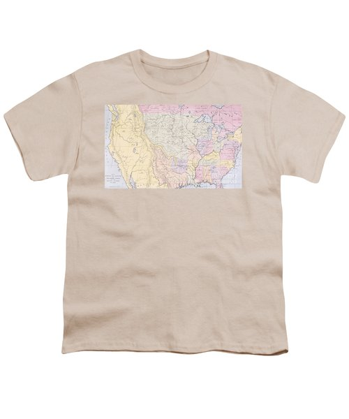 Map Showing The Localities Of The Indian Tribes Of The Us In 1833 Youth T-Shirt by Thomas L McKenney and James Hall