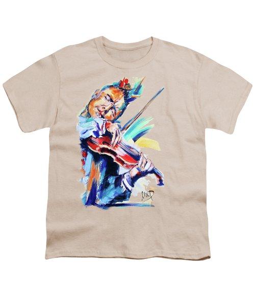 Nigel Kennedy Youth T-Shirt by Melanie D